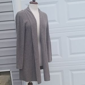 EILEEN FISHER Open Cardigan Wool Blend Sweater M